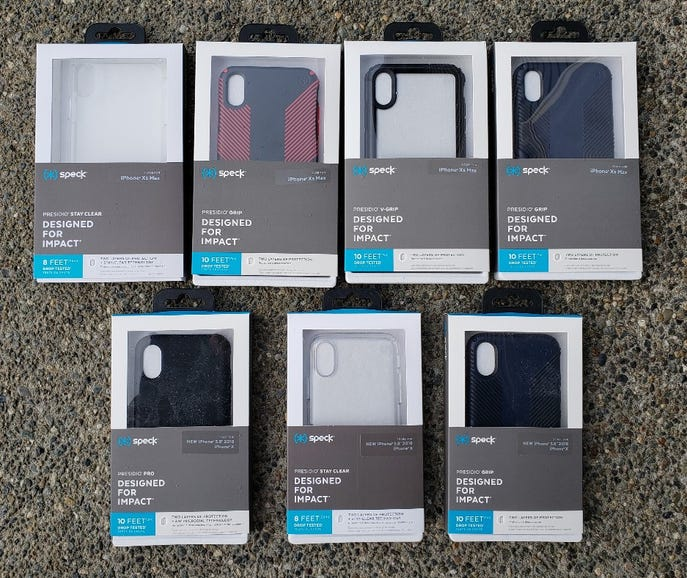 Speck Presidio lineup for Apple iPhone XS Max and X/XS
