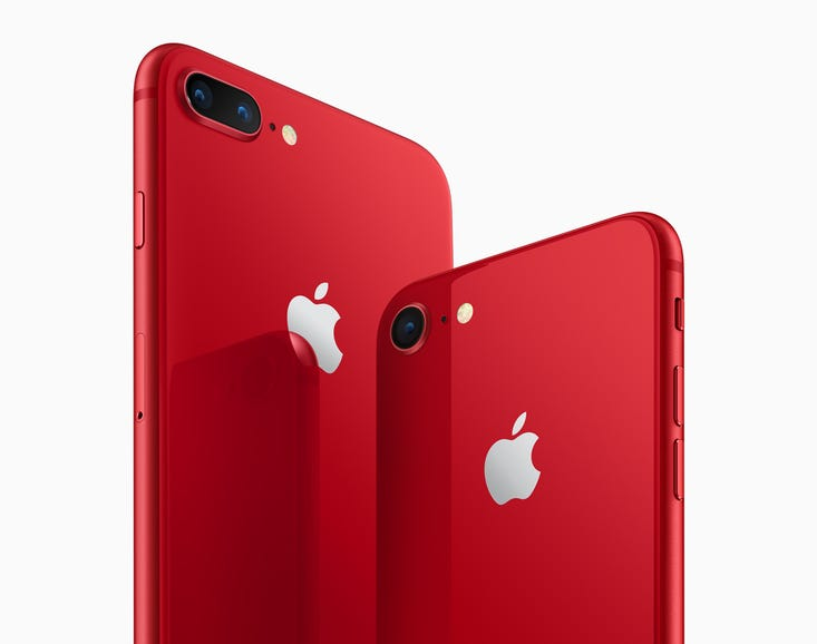 Apple's red iPhone 8