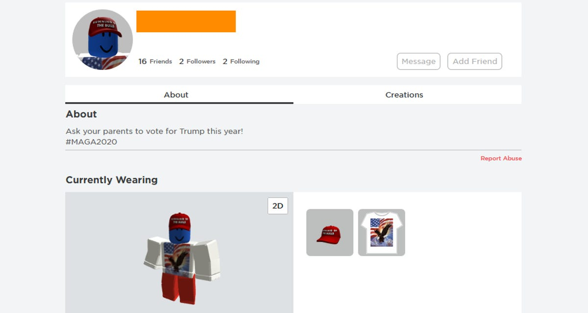 Roblox accounts hacked with pro Trump messages ZDNet
