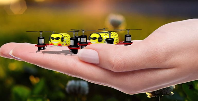 Dronies are the worlds tiniest autonomous flying machines ZDNet