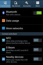 nfc turned off