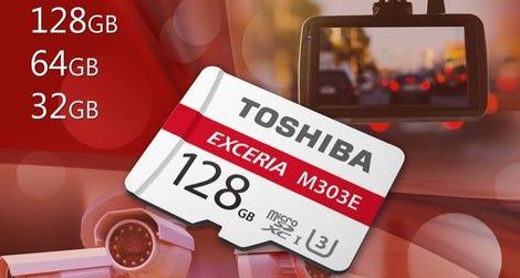 Toshiba EXCERIA M303E high-endurance microSD cards