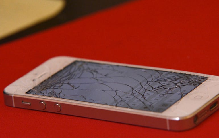 Self-repairing screens