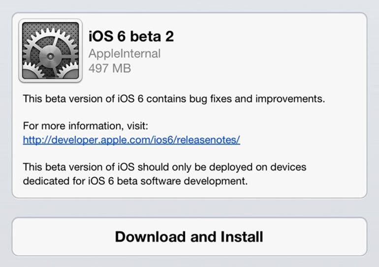 Apple releases iOS 6 beta 2 to developers OTA - Jason O'Grady