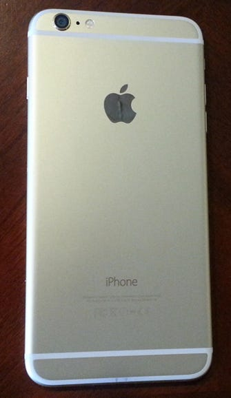 iPhone 6 Plus gold back