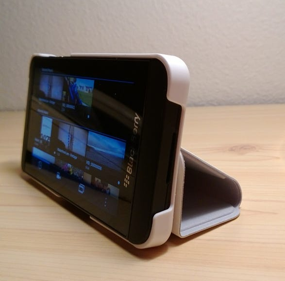 Front view of Flip case in action