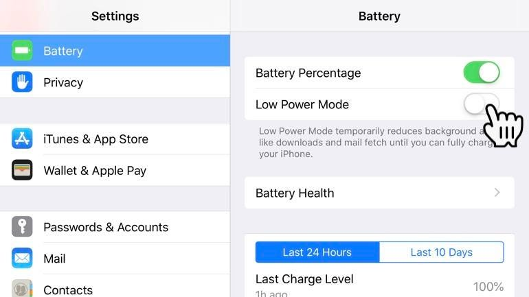 iPhone Low Power Mode