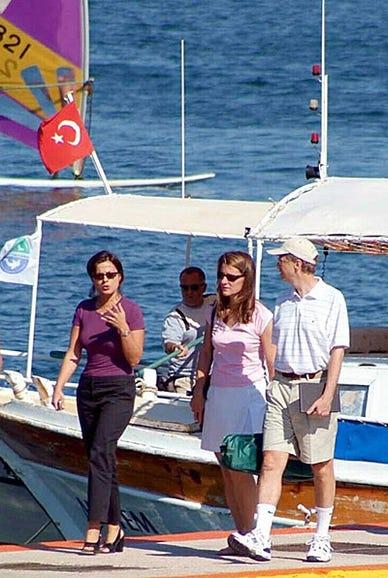 Bill and Melinda Gates vacation in Turkey