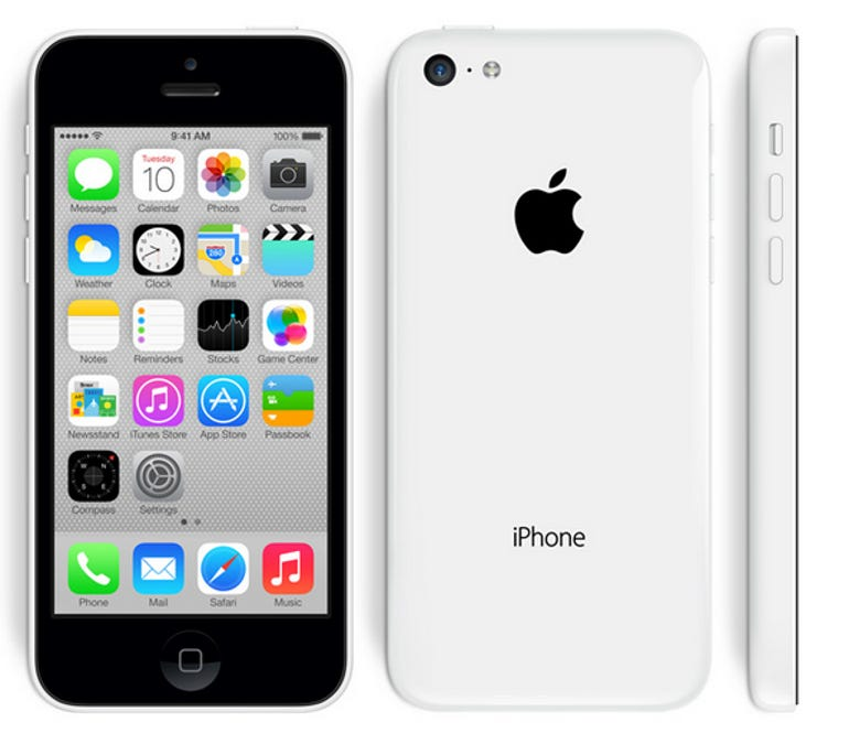 All iPhone 5c models are black in front, which looks a little off in my book - Jason O'Grady