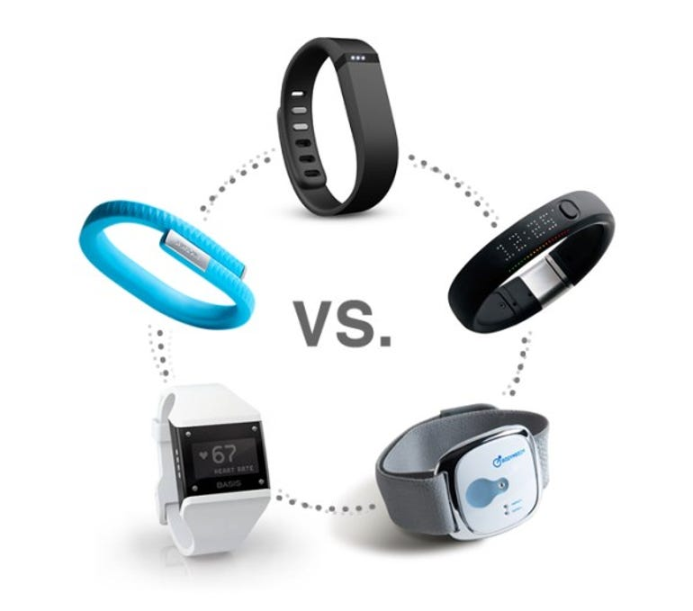 Five leading fitness bands.