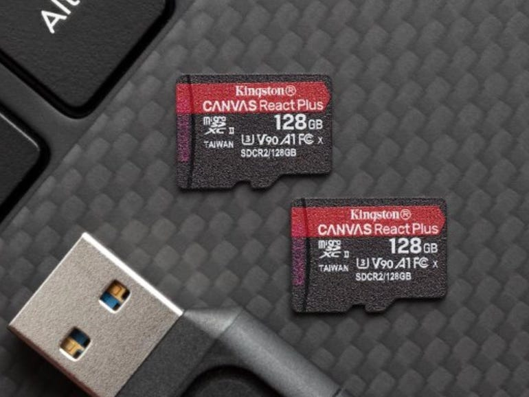 Canvas React Plus microSDS card