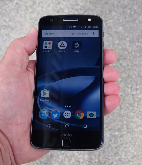 Moto Z Force Droid in hand