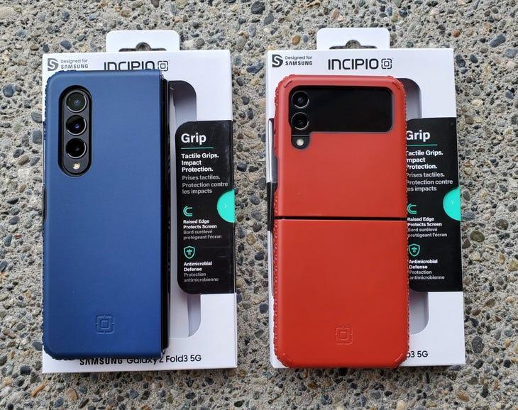 Incipio Grip cases for Z Fold 3 and Z Flip 3