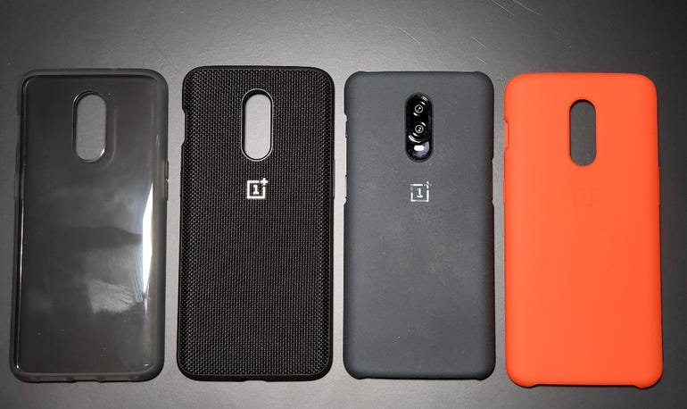 Included case and three OnePlus case options