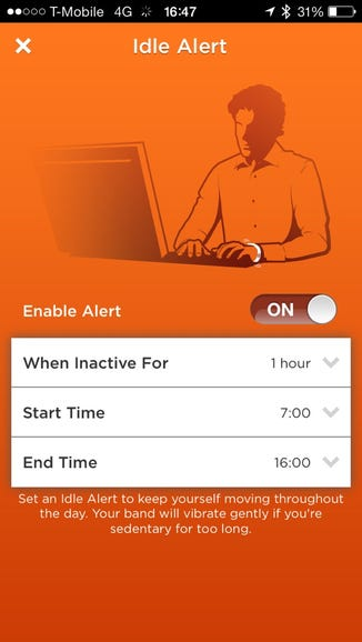 Idle alerts encourage you to get away from the desk