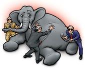elephant with blind men