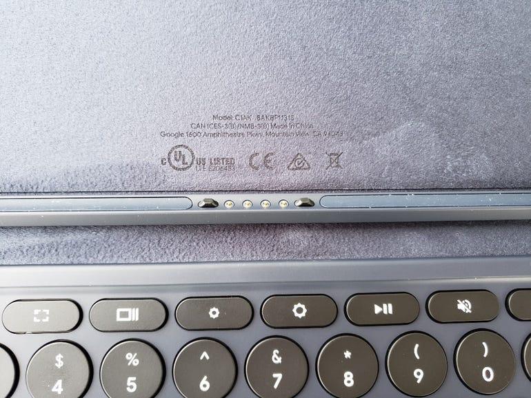 Pins on the Pixel Slate Keyboard