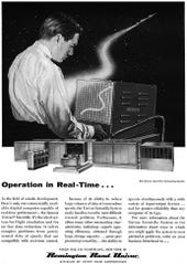 1956 ad for Univac Real-Time Processing
