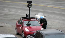 Busted! A Google Street View car.