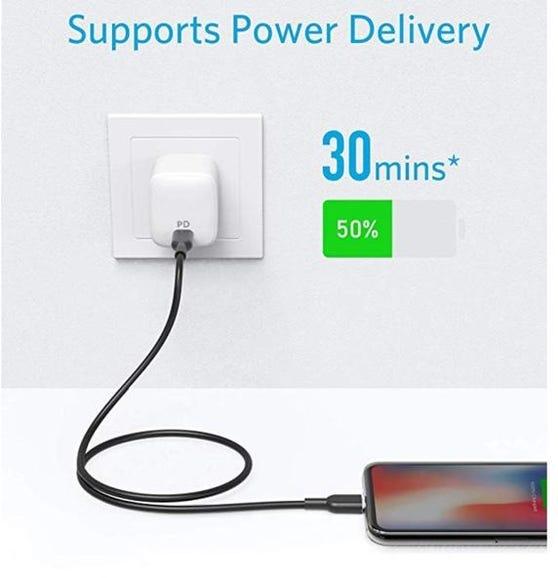 Anker USB-C-to-Lightning cable