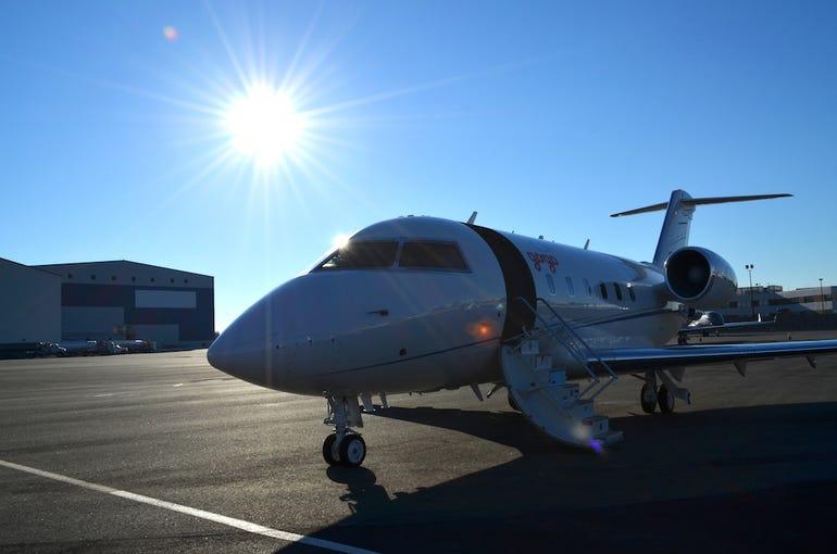 All aboard Gogo One, the company's private plane