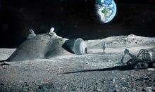 Can you build a moonbase with a 3D printer?