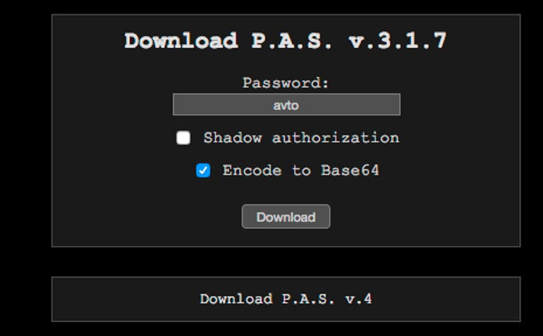 P.A.S. web shell hacking tool