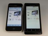 Screen Shootout: Droid vs. iPhone