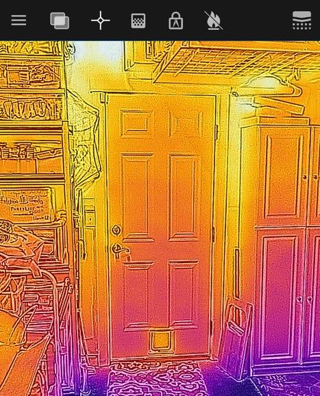 Garage door heat and cool floor