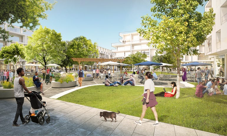 Architect's rendering of the proposed Willow Campus retail park