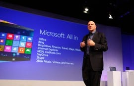 Microsoft's Steve Ballmer launching Windows 8 to consumers