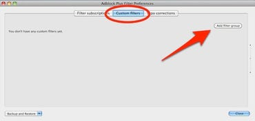 AdBlock Filter Pane
