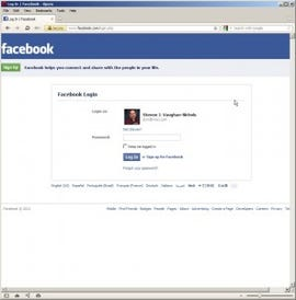 Facebook looks pretty the same on Opera as it does on any Web browser.