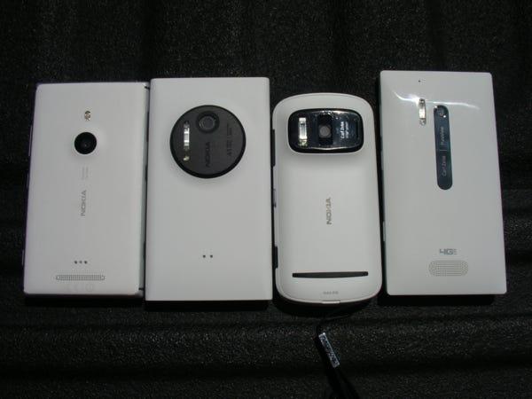 Lumia 925, Lumia 1020, 808 PureView, and Lumia 928