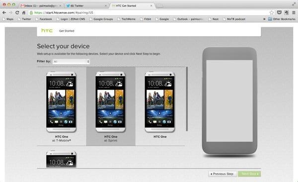 HTC Get Started service
