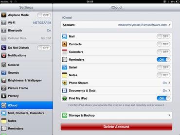 iOS - Configure Find my iPad