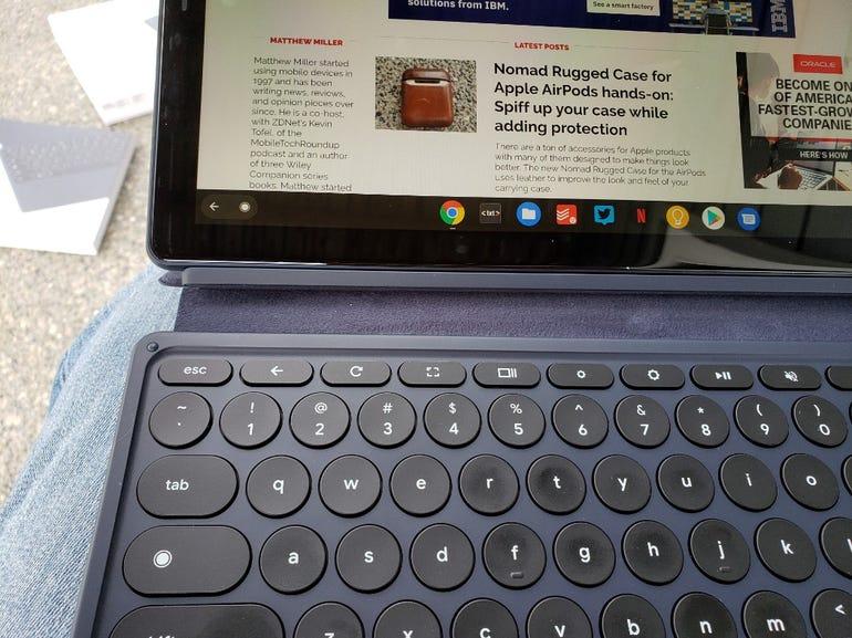Pixel Slate Keyboard is a bit wobbly on the lap