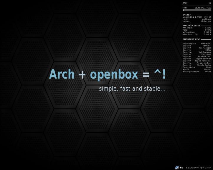 ArchBang - 600-700MB download