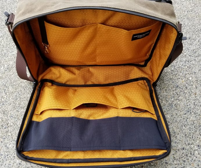 Large front pocket with six pockets on the front