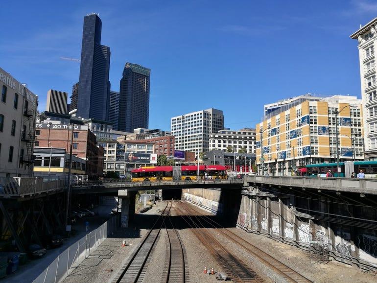 Huawei P9 downtown Seattle