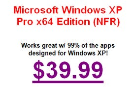 An offer for Windows XP that's too good to be true
