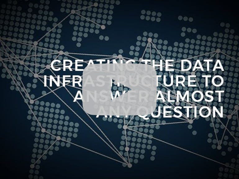 Creating the data infrastructure to answer almost any question
