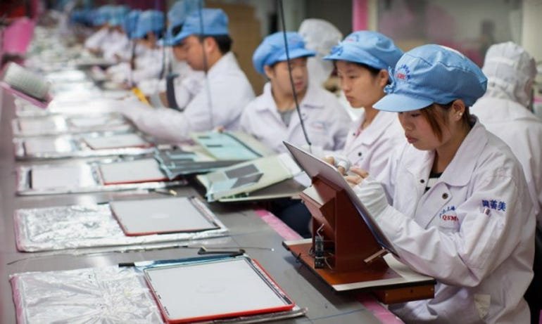 Foxconn partner workers. Credit: Apple