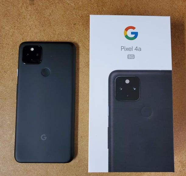 Pixel 4a 5G retail package