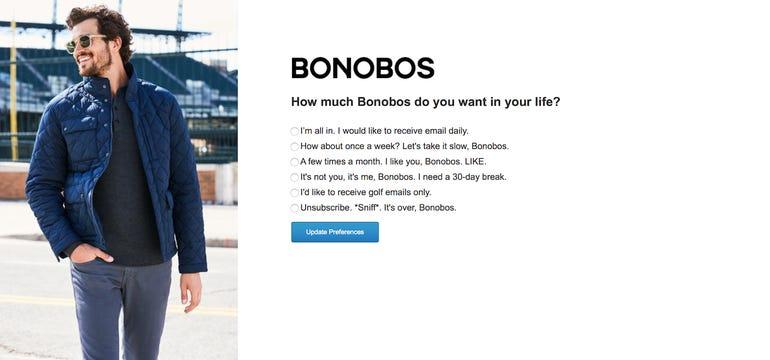 Bonobos unsubscribe gdpr