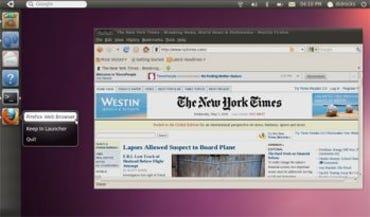 Unity interface on Ubuntu 10.10 Light