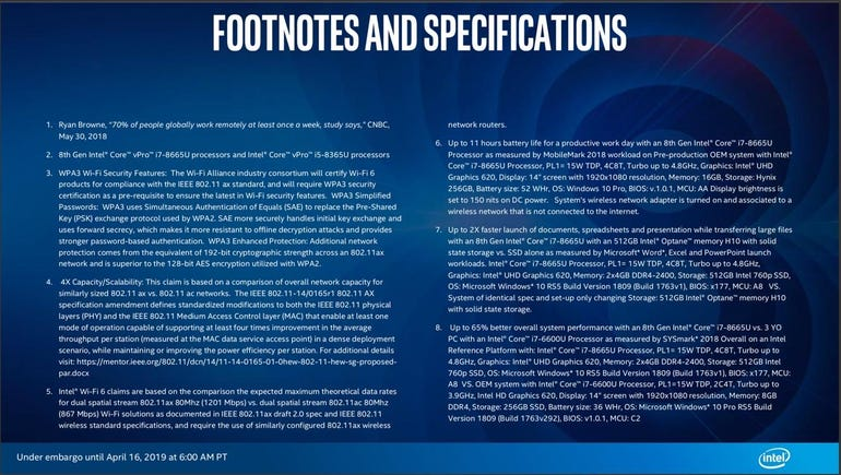 Intel 8th-gen Core vPro mobile processors