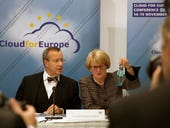 Estonia's president Toomas Ilves and Germany's commissioner for IT Cornelia Rogall-Grothe