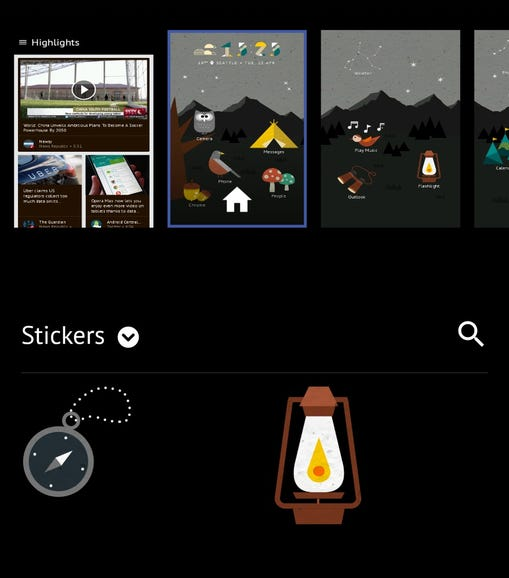 Add stickers to your theme