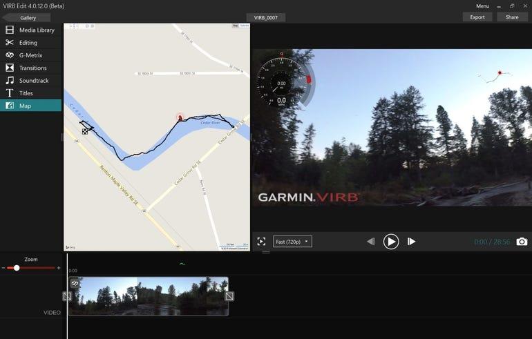 Desktop software map view